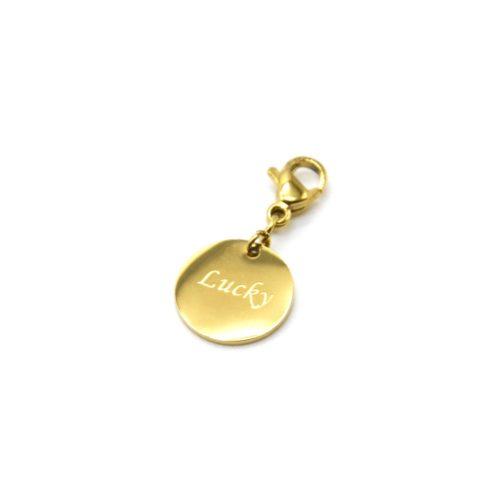 Charm-Medaille-Lucky-Acier-Dore
