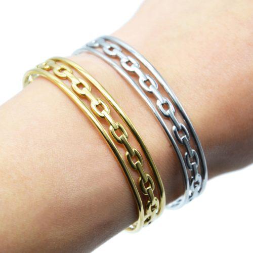 Bracelet-Jonc-3-Rangs-avec-Maillons-Acier