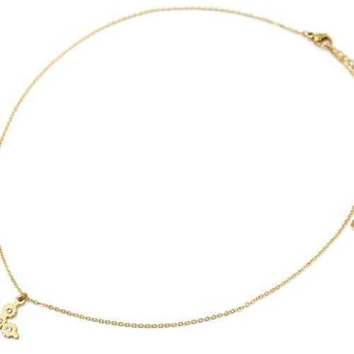 Collier-Fine-Chaine-Pendentif-Croix-Multi-Cercles-Acier-Dore-et-Strass