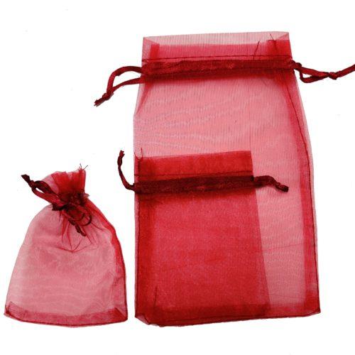 Emballage-Cadeau-Pochette-Organza-Rouge-Bordeaux-Bijoux
