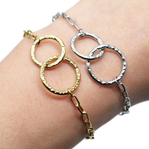 Bracelet-Chaine-Maillons-avec-Cercles-Entrelaces-Marteles-Acier
