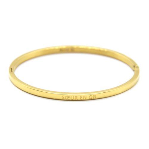 Bracelet-Jonc-Fin-Acier-Dore-avec-Message-Soeur-en-Or