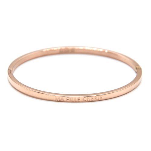 Bracelet-Jonc-Fin-Acier-Or-Rose-avec-Message-Ma-Fille-Cherie