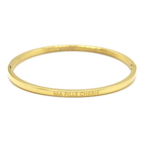 Bracelet-Jonc-Fin-Acier-Dore-avec-Message-Ma-Fille-Cherie