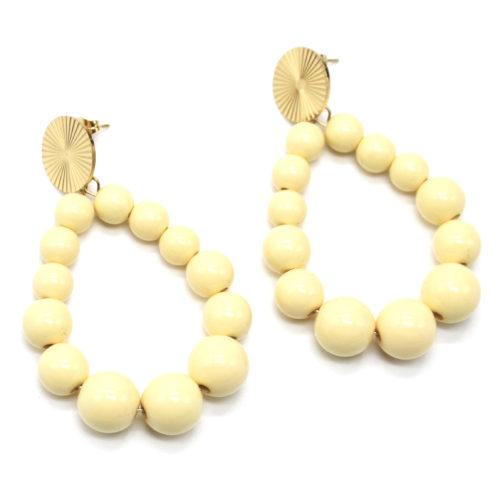 Boucles-dOreilles-Medaille-Acier-Dore-et-Goutte-Perles-Resine-Vanille