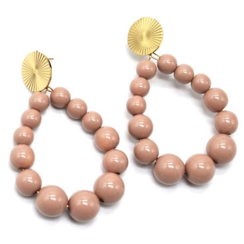 Boucles-dOreilles-Medaille-Acier-Dore-et-Goutte-Perles-Resine-Taupe
