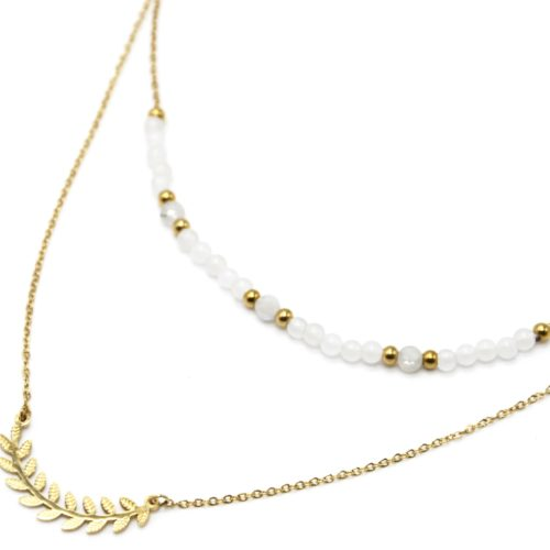 Bracelet-Double-Chaines-Epi-de-Ble-Acier-Dore-et-Pierres-Blanches