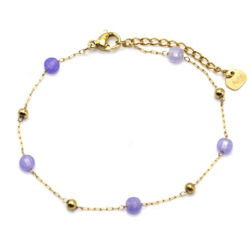 Bracelet-Fine-Chaine-Billes-Acier-Dore-et-Pierres-Violettes