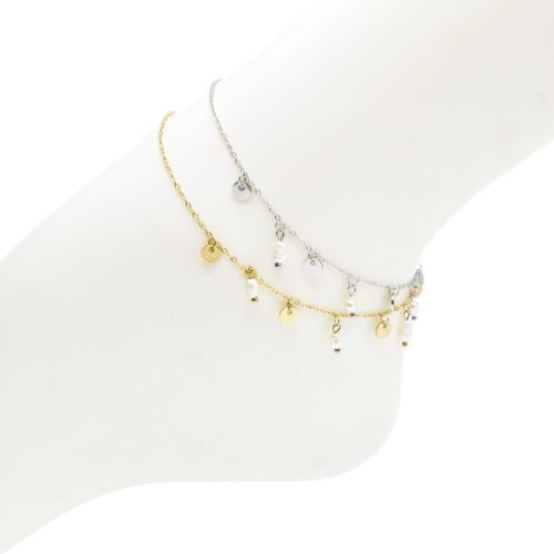 Fine-Chaine-Cheville-Acier-avec-Pampilles-Rondes-et-Perles-dEau-Douce