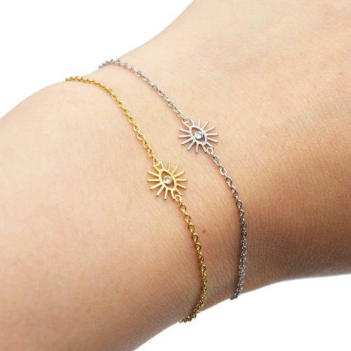 Bracelet-Fine-Chaine-avec-Charm-Oeil-Cils-Acier
