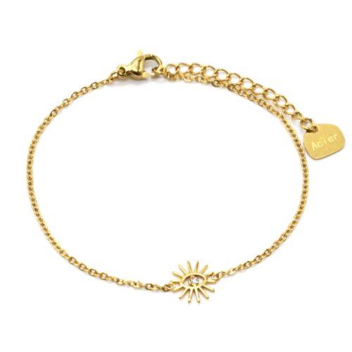Bracelet-Fine-Chaine-avec-Charm-Oeil-Cils-Acier-Dore