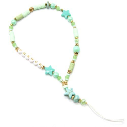 Petit-Cordon-Portable-Chance-avec-Etoiles-et-Perles-Vertes