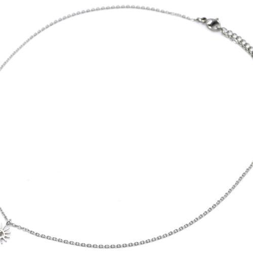 Collier-Fine-Chaine-Pendentif-Oeil-Cils-Acier-Argente