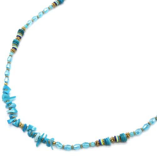 Sautoir-Collier-Perles-Turquoises-avec-Coquillages-et-Pierres-Bleues