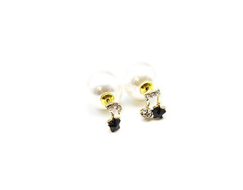 boucle oreille double perle blanche bijoux de la saison 2018. Black Bedroom Furniture Sets. Home Design Ideas